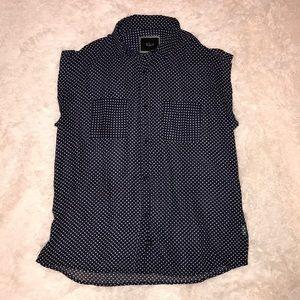 Rails sheer polkadot shirt size M